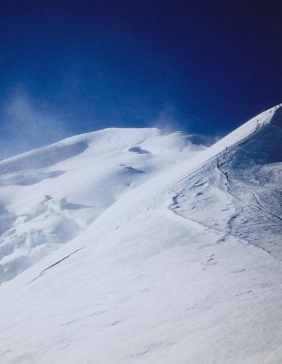 Vuorikiipeilyä, Mont Blanc, Bosses Ridge