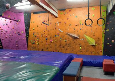Orange vertical wall